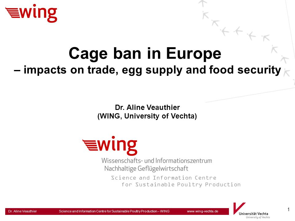 Cage ban in Europe – impacts on trade, egg supply and food security