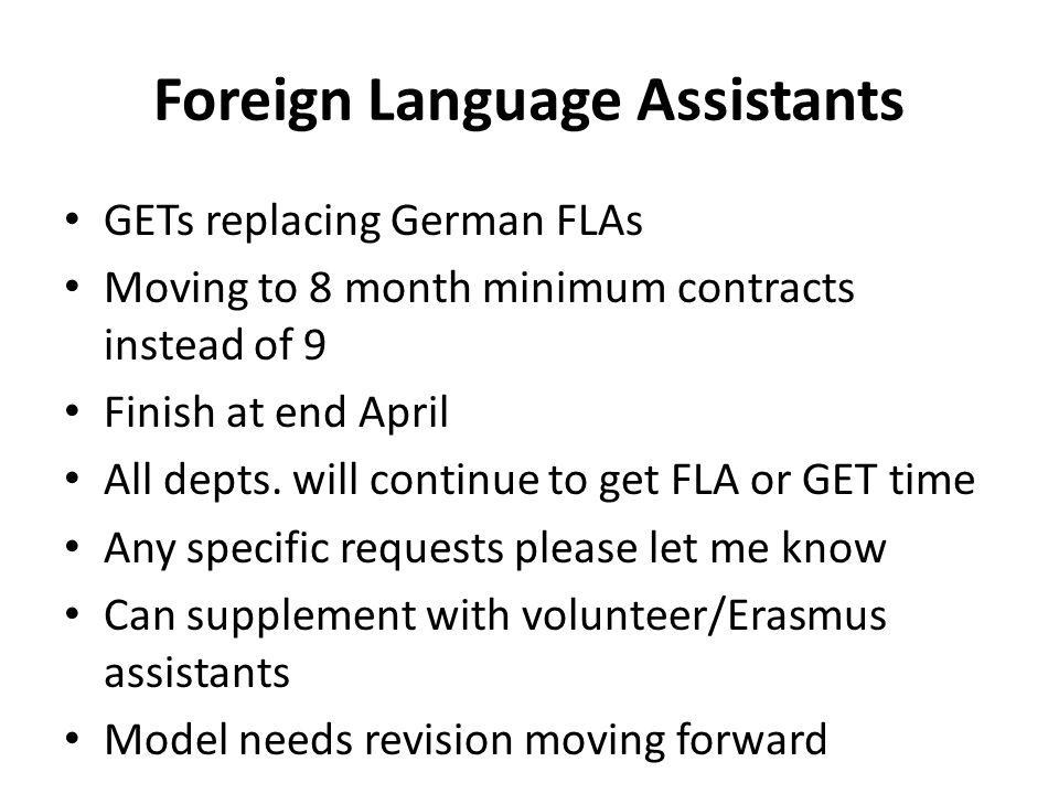 Foreign Language Assistants