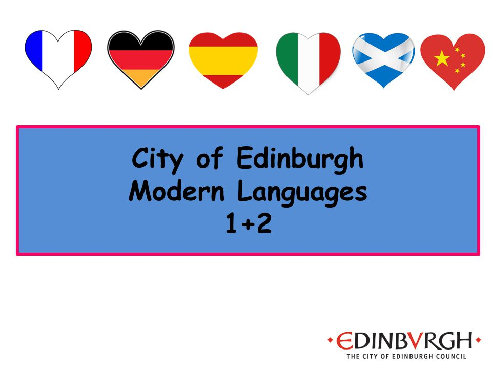 City of Edinburgh Modern Languages 1+2