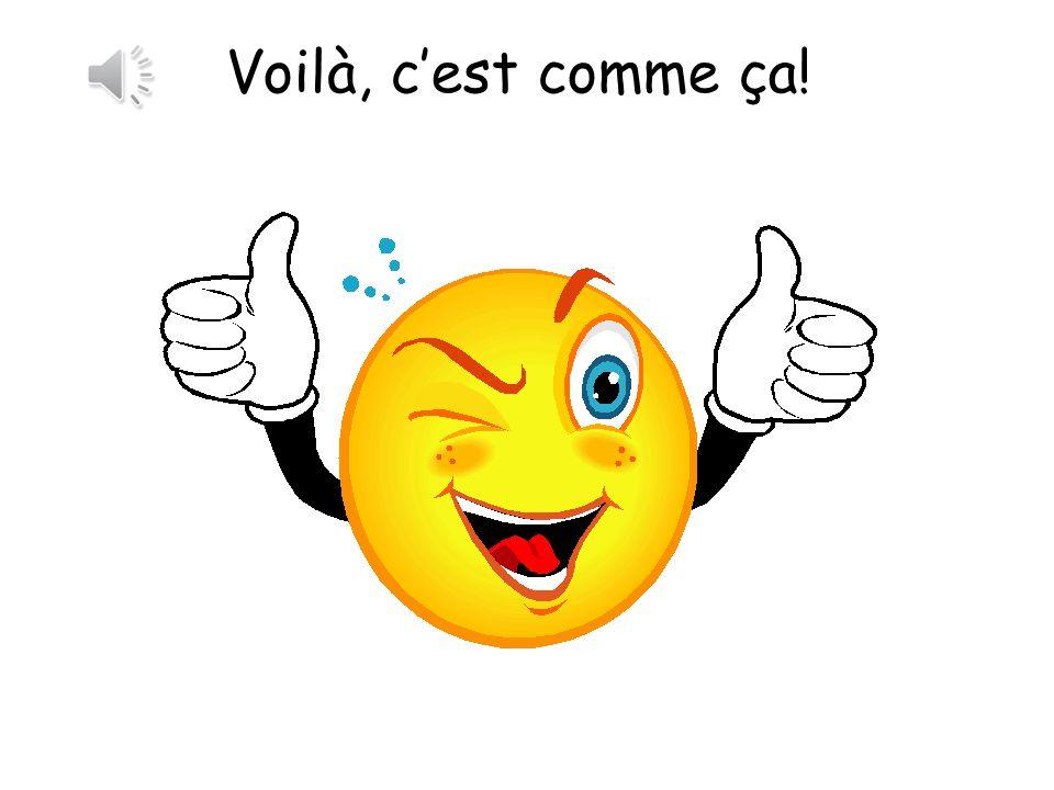 Voilà, c'est comme ça! There you go, it's like that!