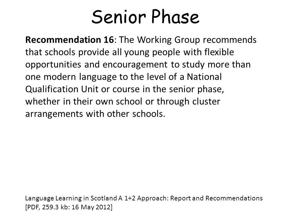 Senior Phase