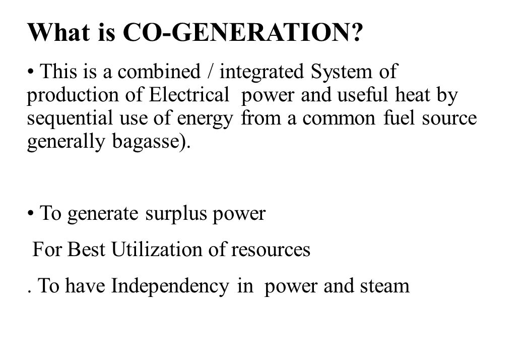 What is CO-GENERATION