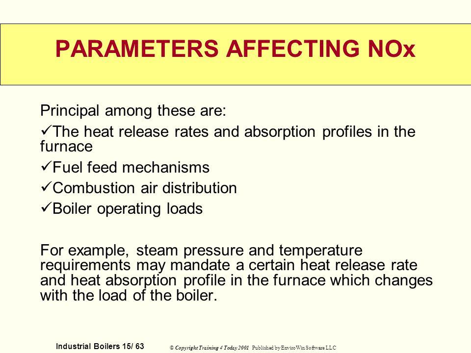 PARAMETERS AFFECTING NOx