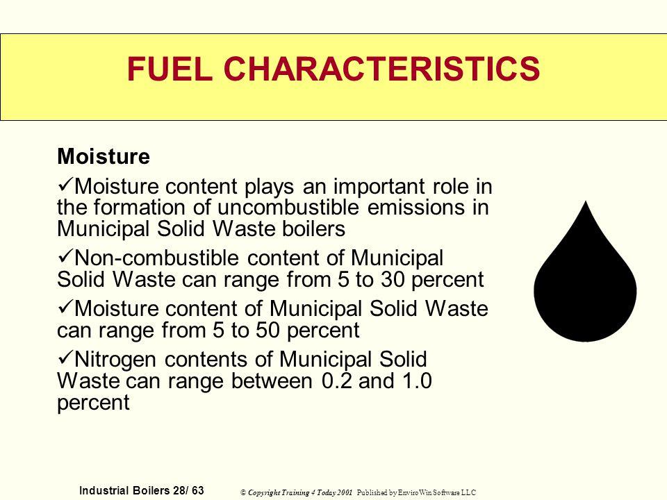 FUEL CHARACTERISTICS Moisture