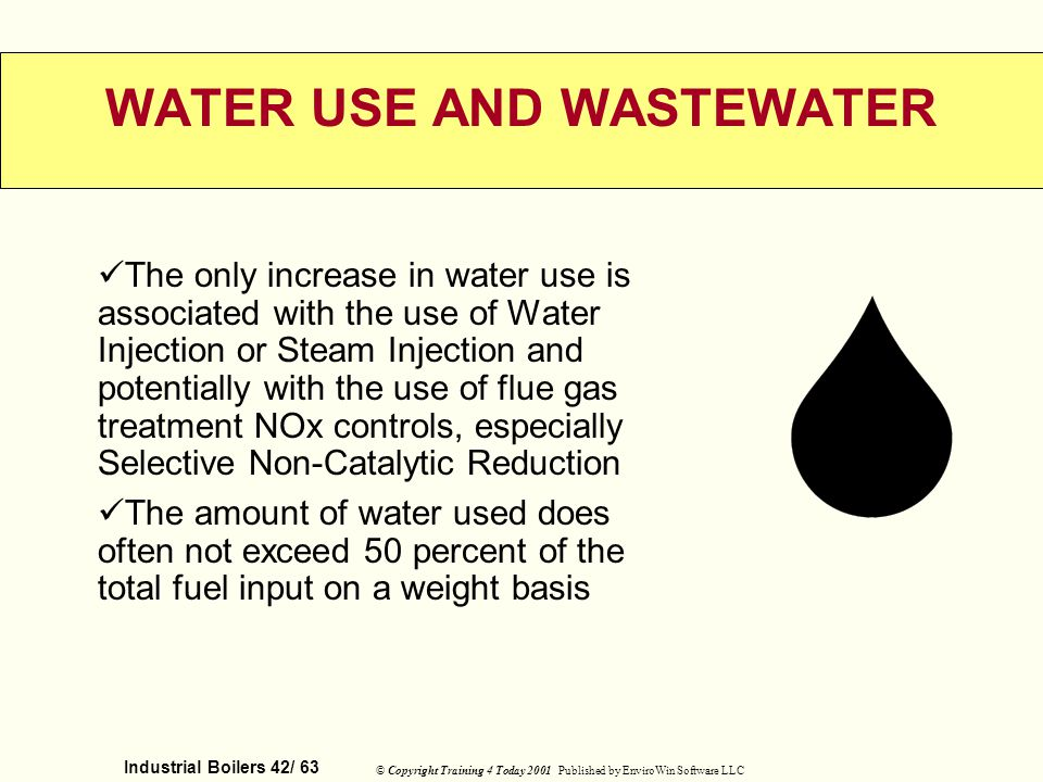 WATER USE AND WASTEWATER