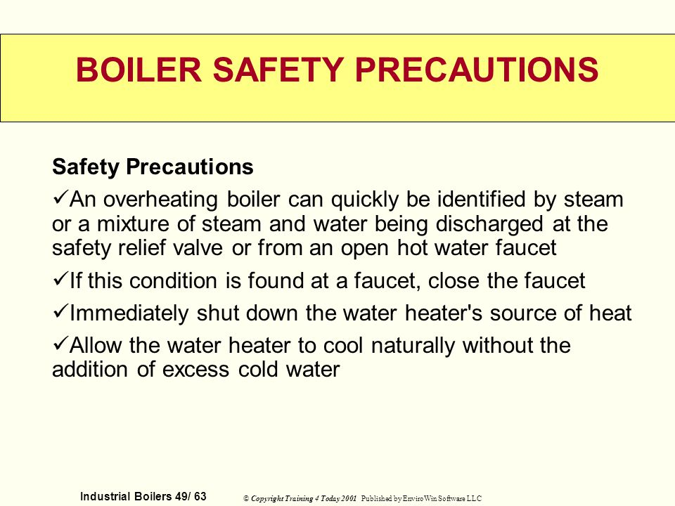 BOILER SAFETY PRECAUTIONS