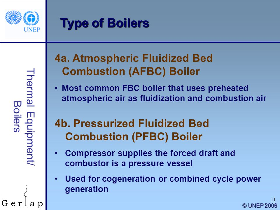 Type of Boilers 4a. Atmospheric Fluidized Bed Combustion (AFBC) Boiler
