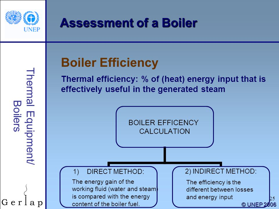 Assessment of a Boiler Boiler Efficiency Thermal Equipment/ Boilers
