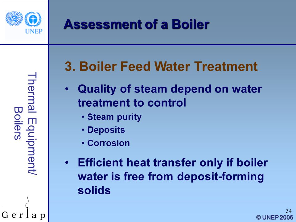 3. Boiler Feed Water Treatment