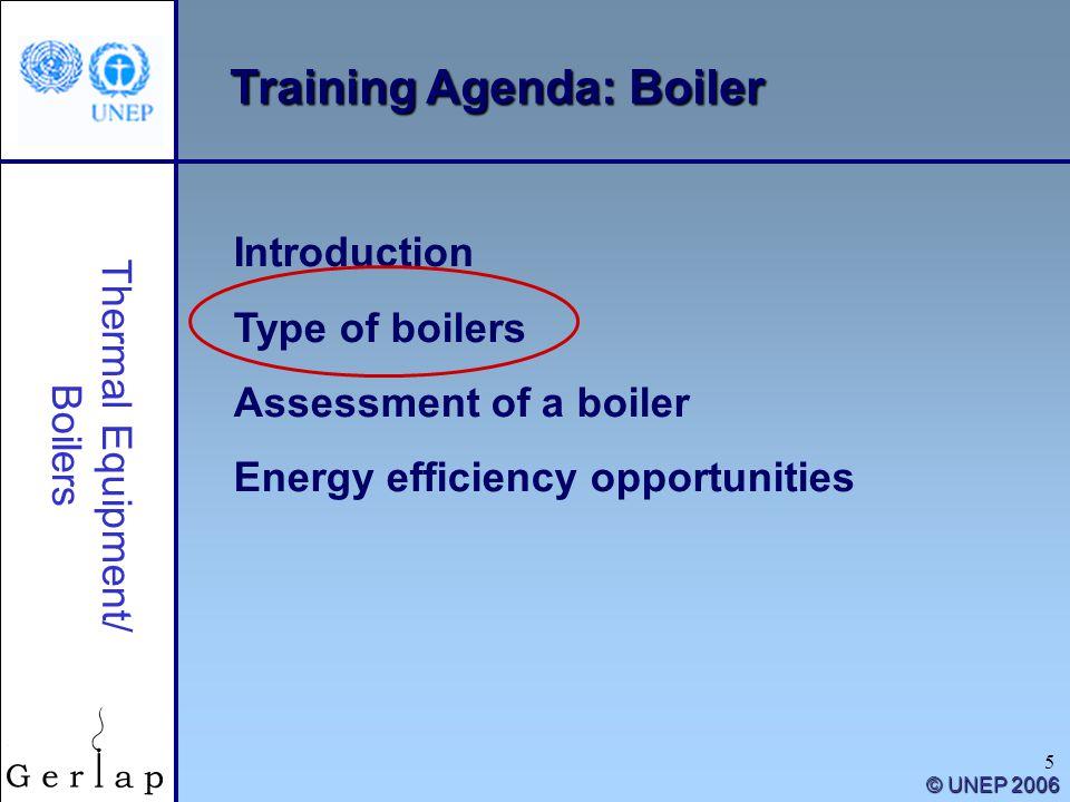 Training Agenda: Boiler