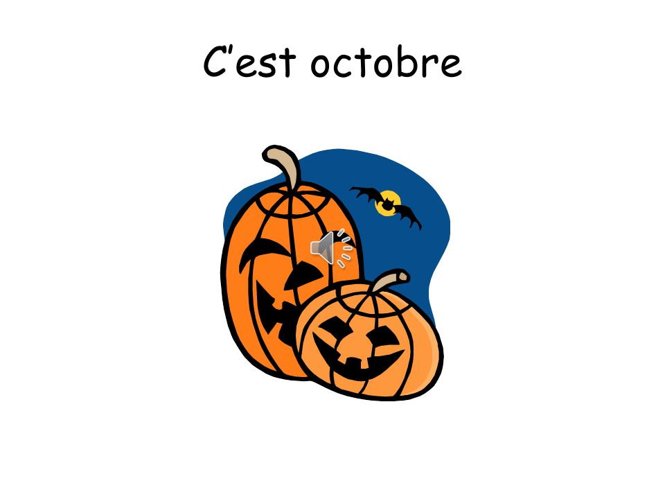 C'est octobre A noter! You pronounce the T on C'est when the next word starts with a vowel!