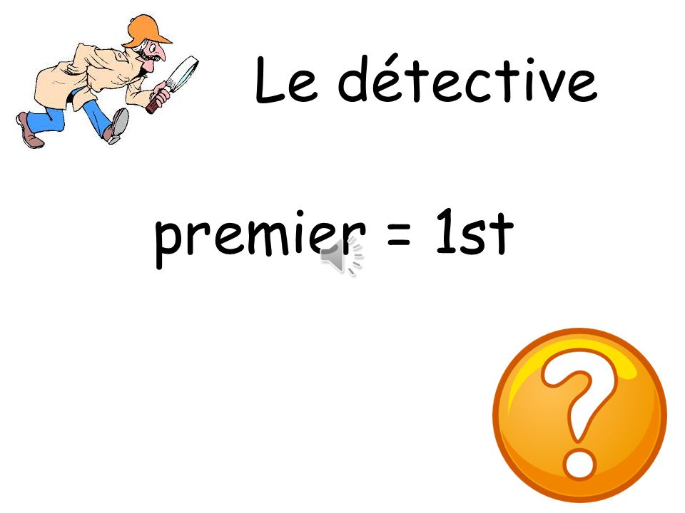 Le détective premier = 1st What colour is it