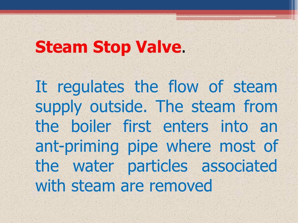 Steam Stop Valve.