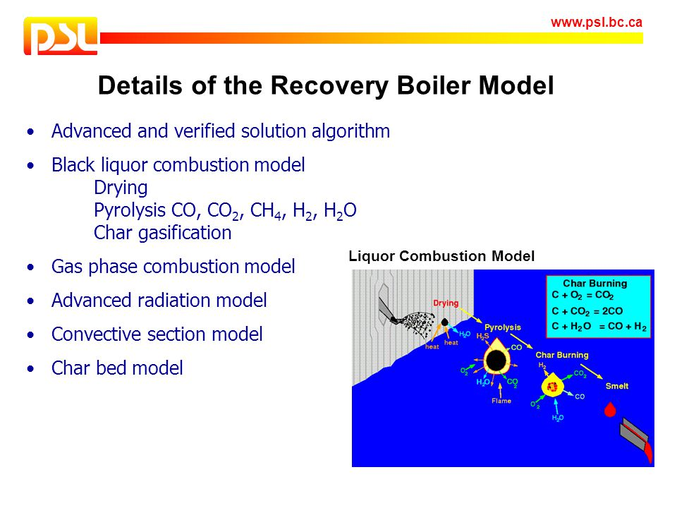 Details of the Recovery Boiler Model