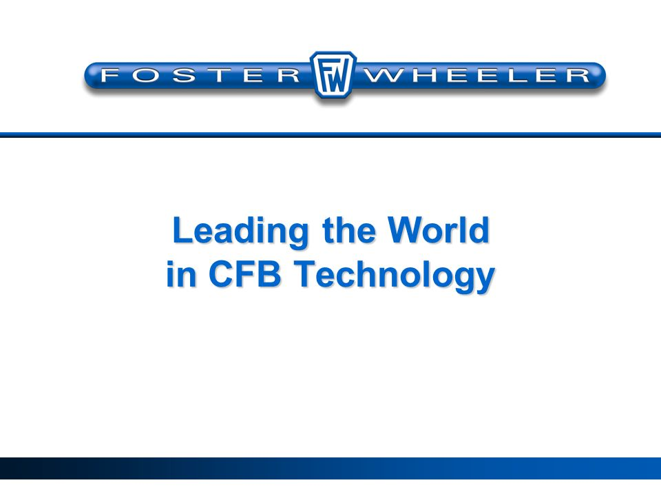 Leading the World in CFB Technology