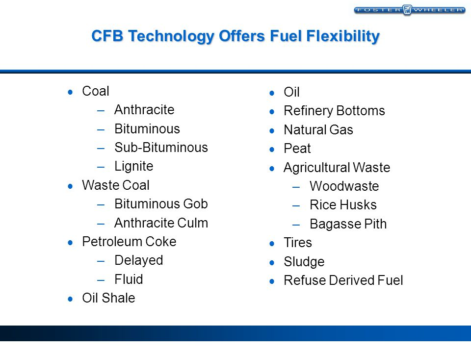 CFB Technology Offers Fuel Flexibility