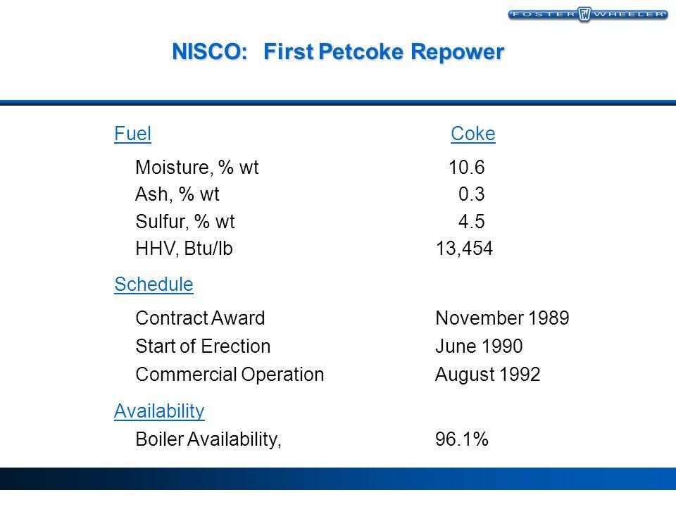 NISCO: First Petcoke Repower