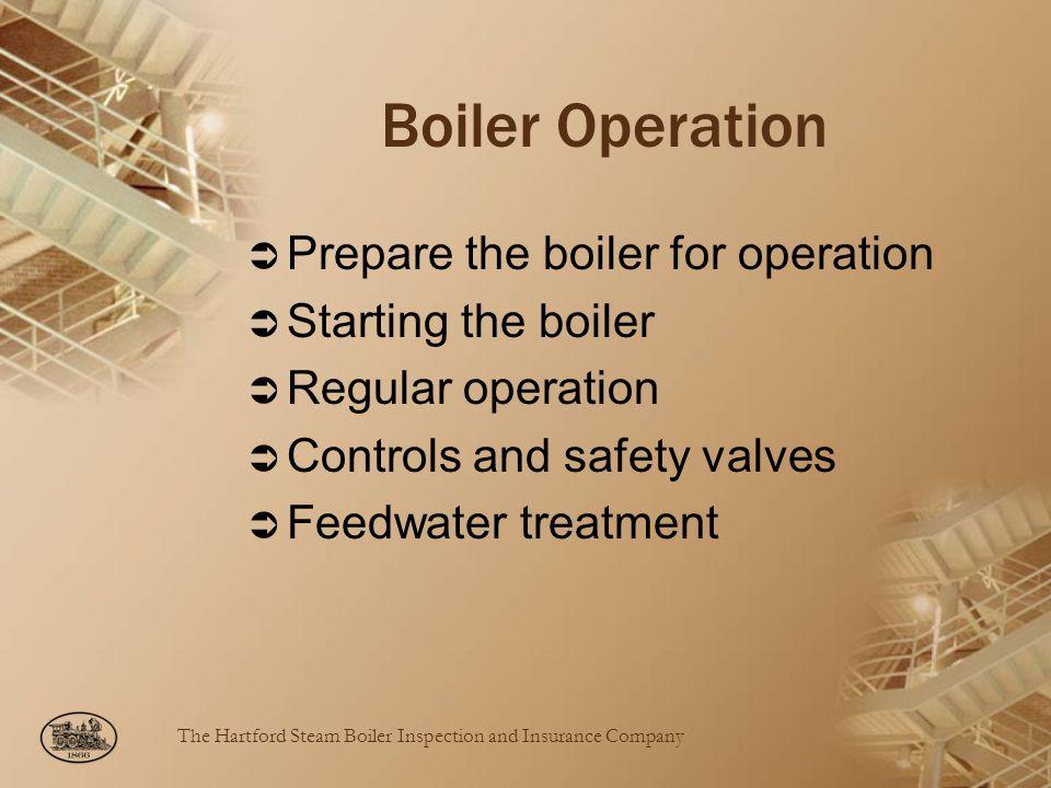 Boiler Operation Prepare the boiler for operation Starting the boiler