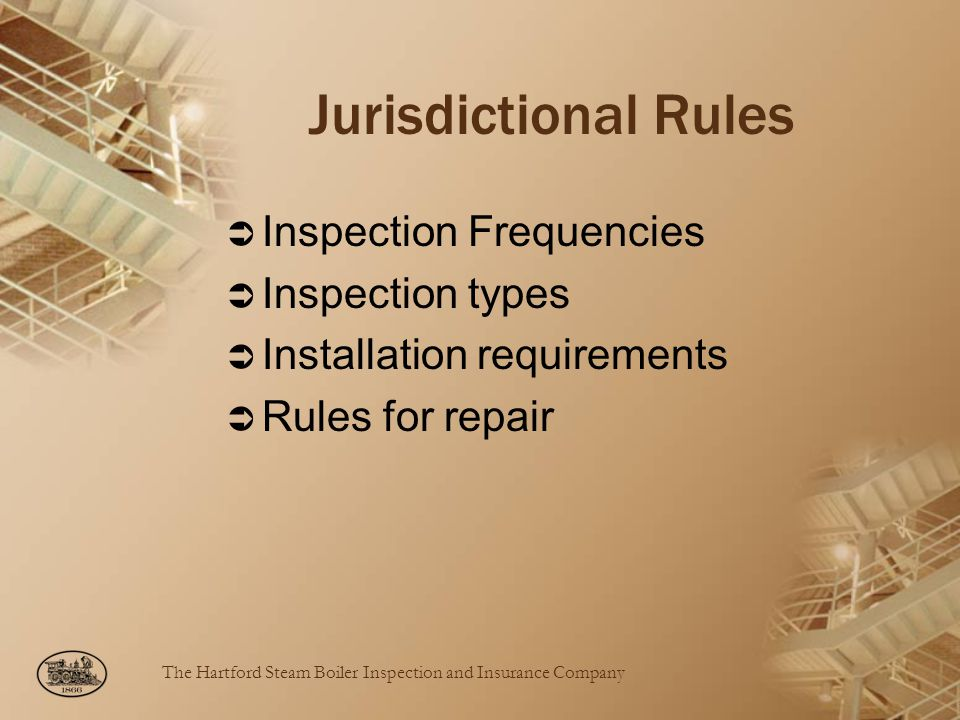 Jurisdictional Rules Inspection Frequencies Inspection types