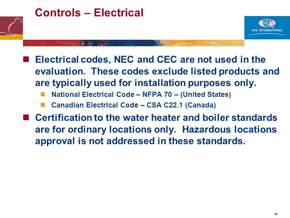 Controls – Electrical © Kiwa N.V. Nieuwegein, 1/4/17.