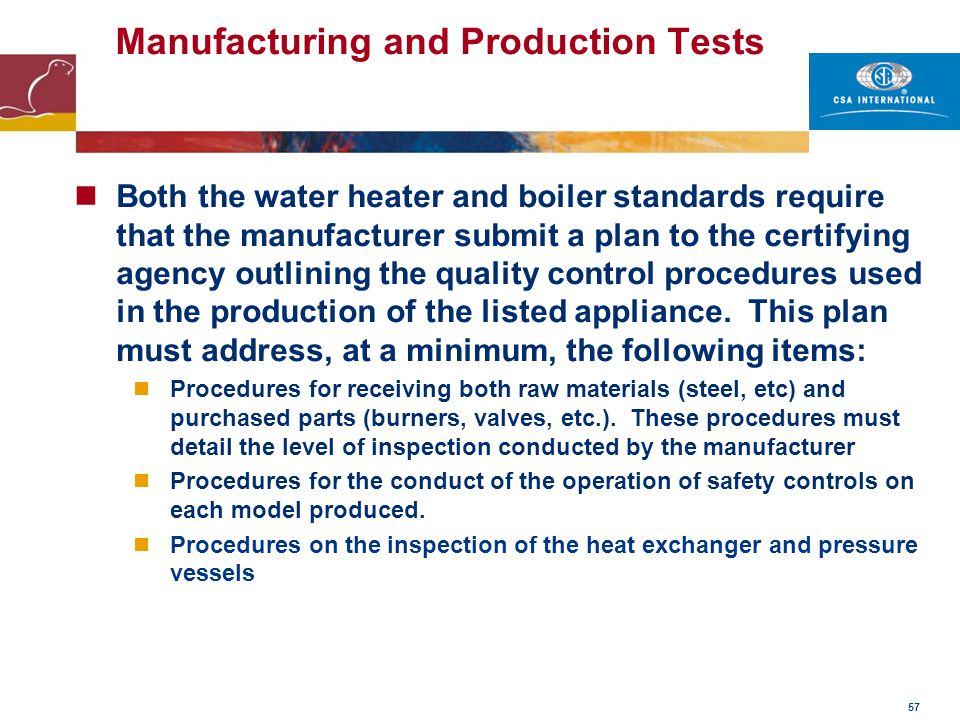 Manufacturing and Production Tests