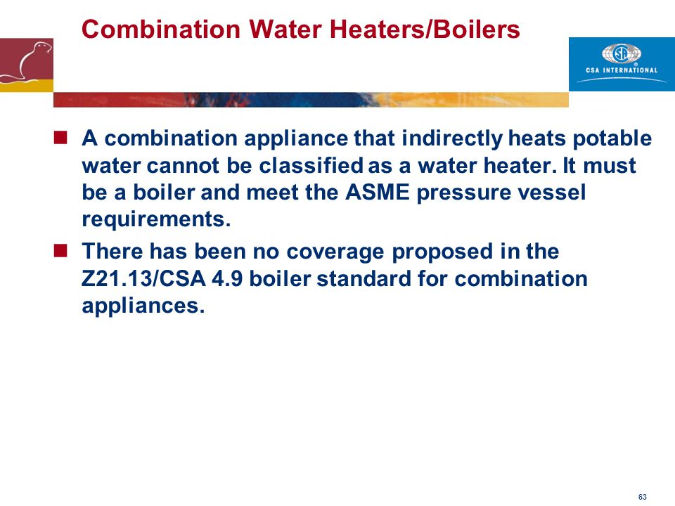 Combination Water Heaters/Boilers