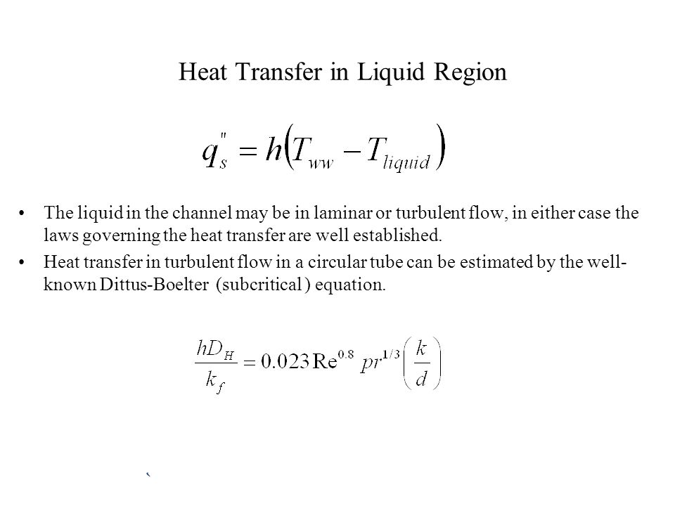 Heat Transfer in Liquid Region