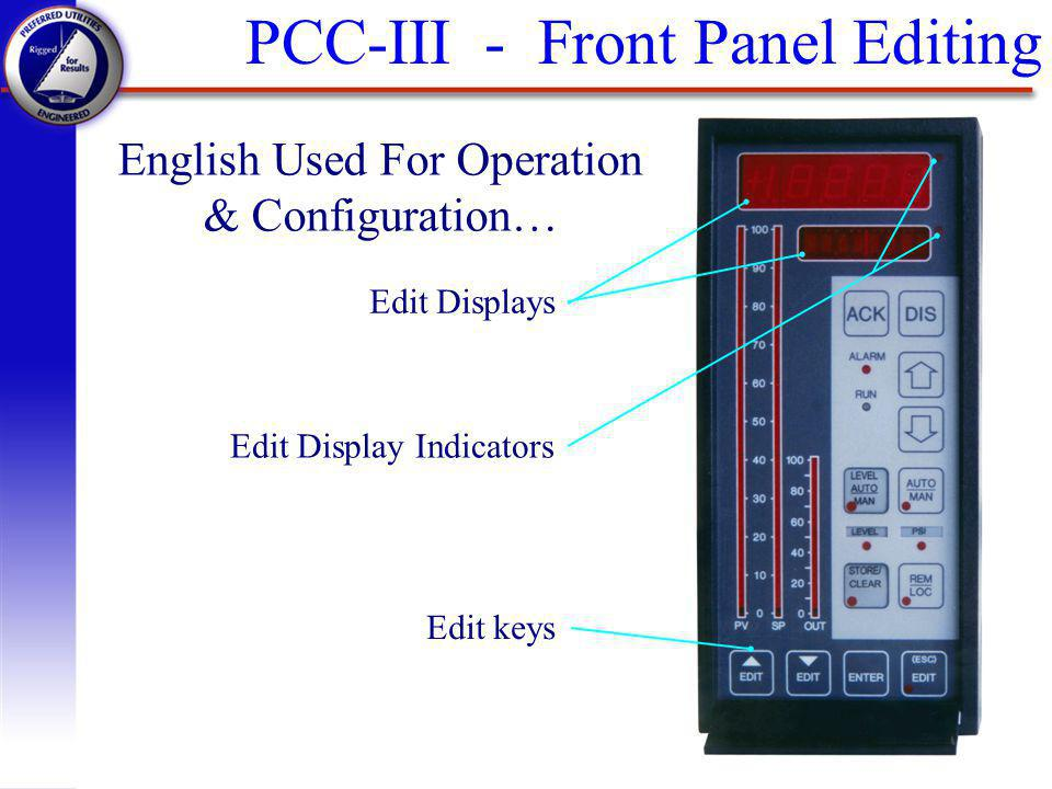 English Used For Operation & Configuration…