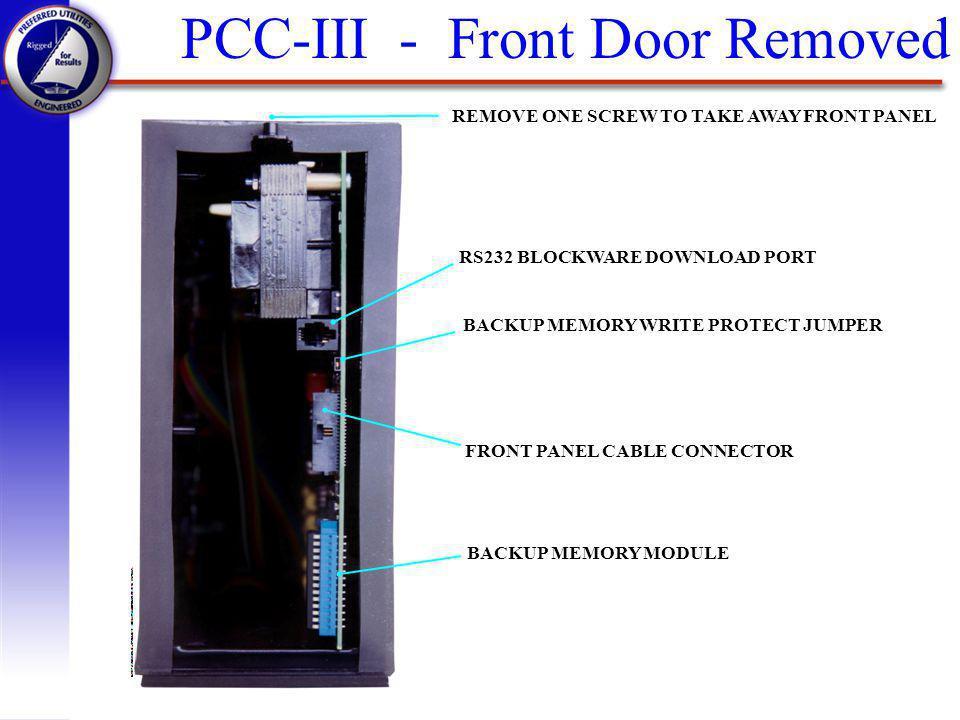 PCC-III - Front Door Removed