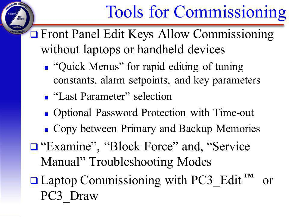 Tools for Commissioning