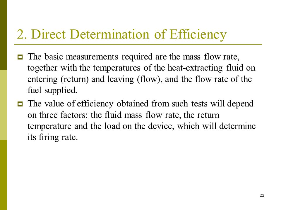 2. Direct Determination of Efficiency