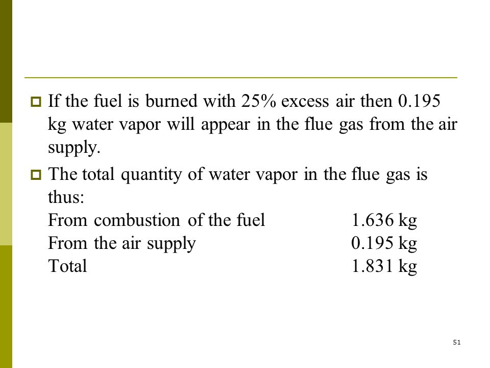If the fuel is burned with 25% excess air then 0
