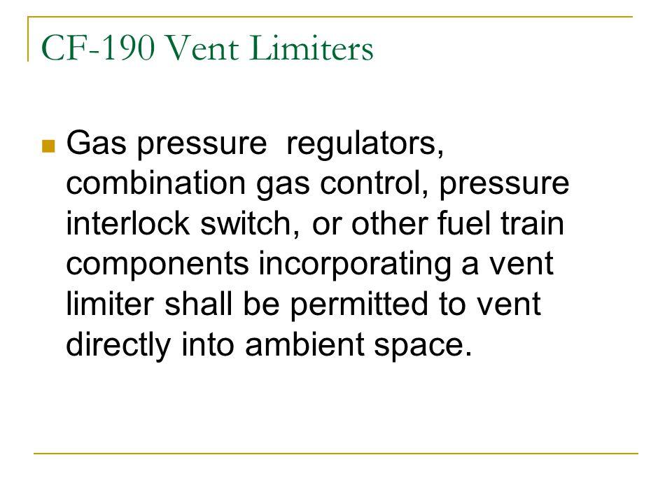 CF-190 Vent Limiters