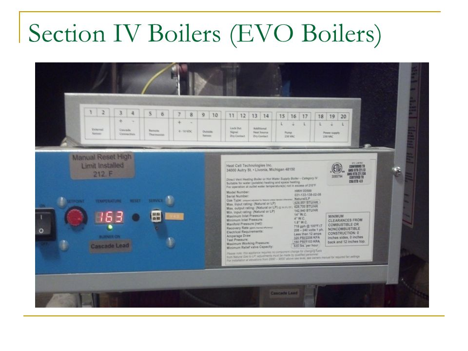 Section IV Boilers (EVO Boilers)