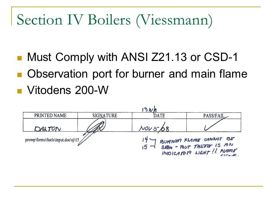 Section IV Boilers (Viessmann)