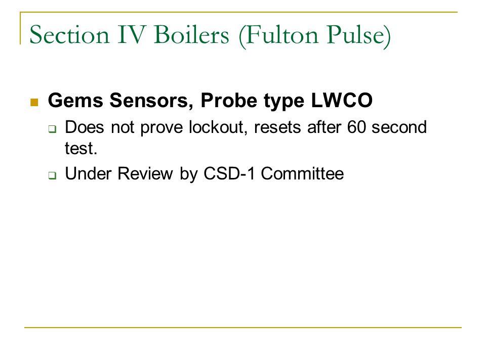 Section IV Boilers (Fulton Pulse)