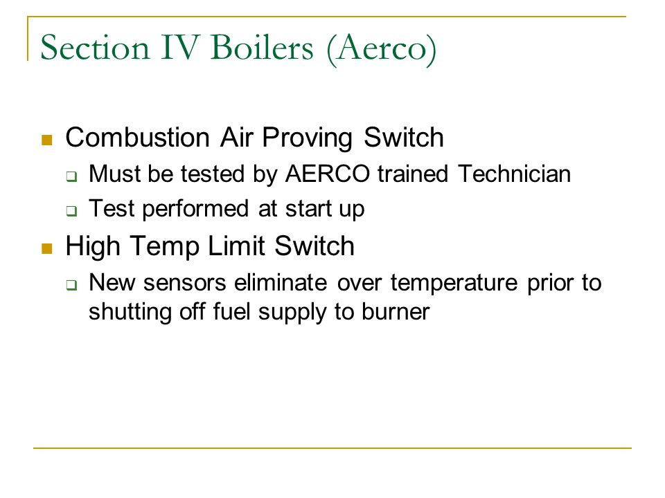 Section IV Boilers (Aerco)