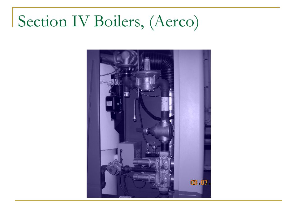 Section IV Boilers, (Aerco)