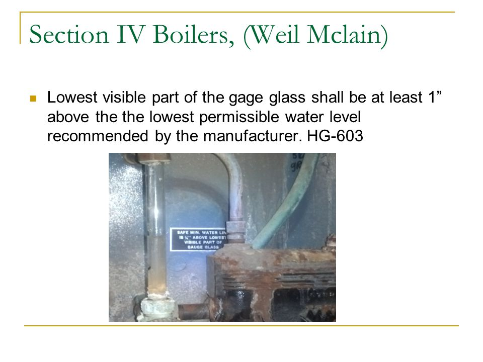 Section IV Boilers, (Weil Mclain)