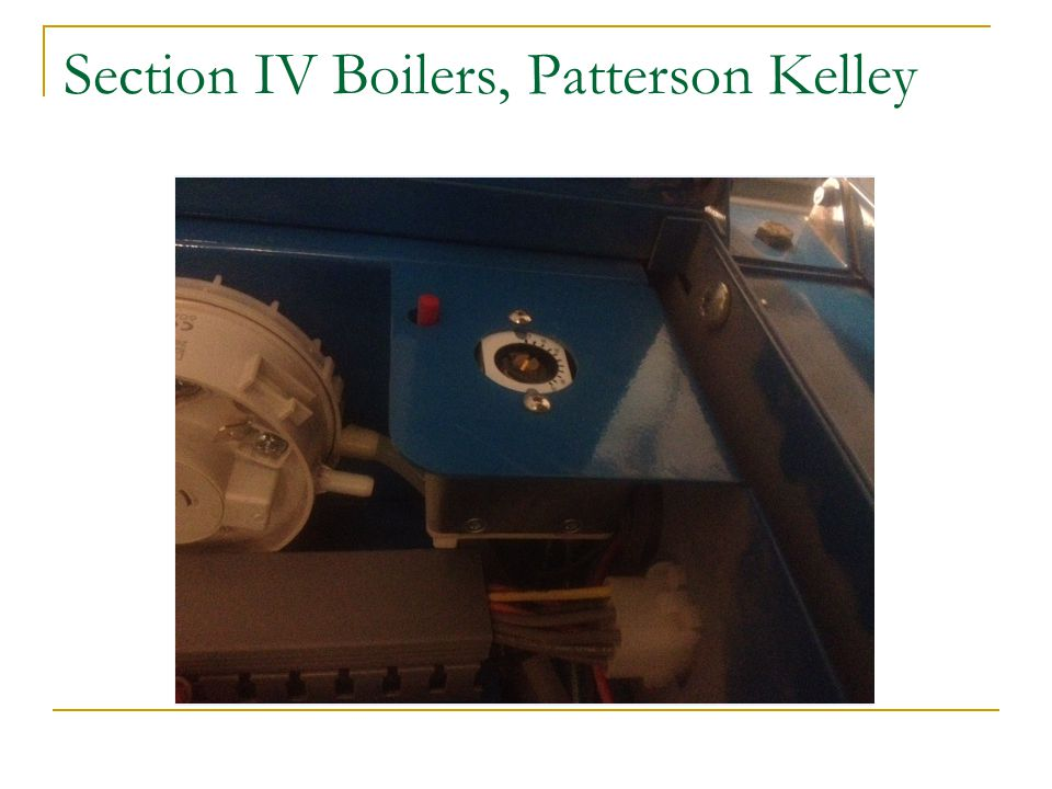 Section IV Boilers, Patterson Kelley