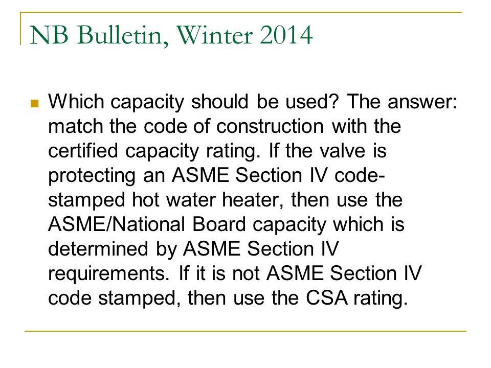 NB Bulletin, Winter 2014