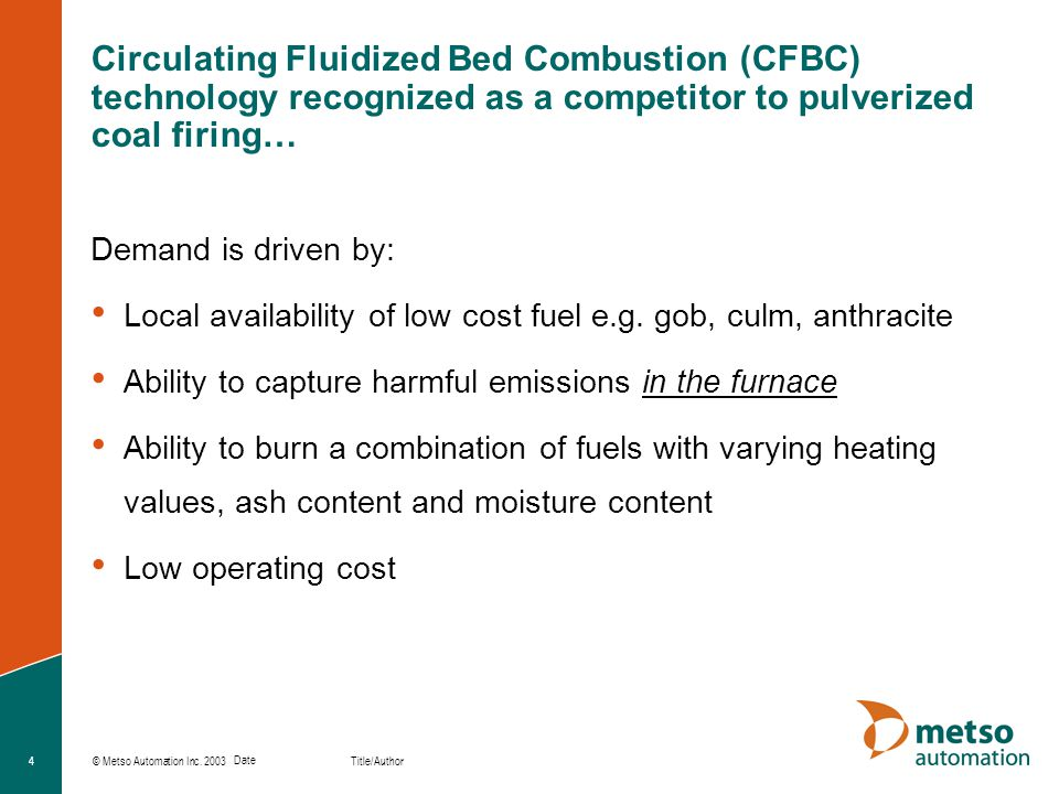 Circulating Fluidized Bed Combustion (CFBC) technology recognized as a competitor to pulverized coal firing…
