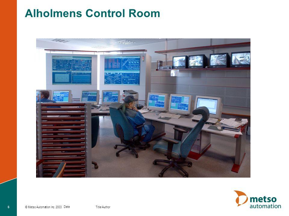 Alholmens Control Room