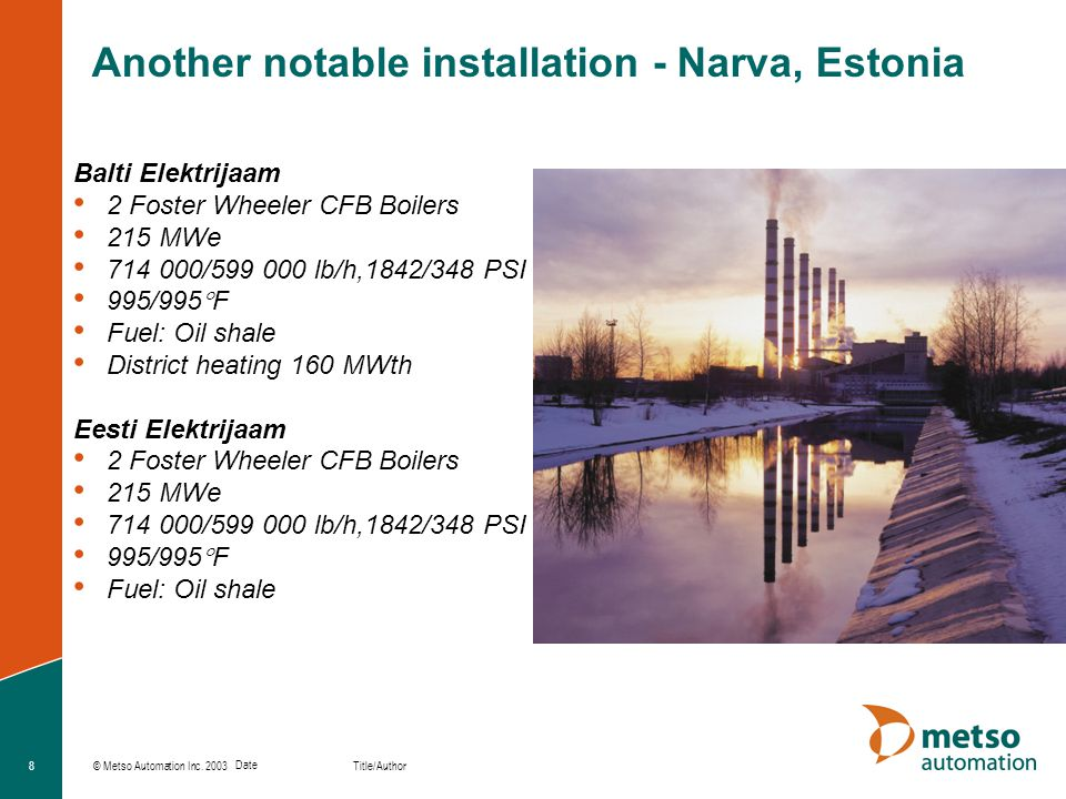 Another notable installation - Narva, Estonia