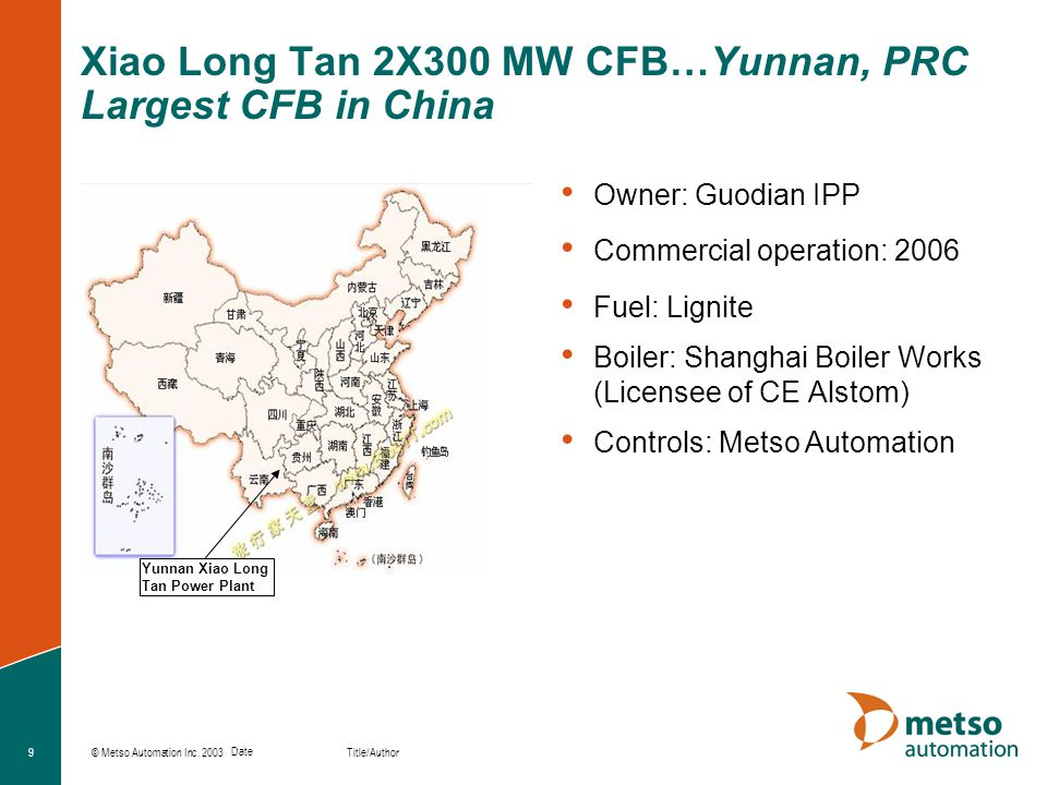 Xiao Long Tan 2X300 MW CFB…Yunnan, PRC Largest CFB in China