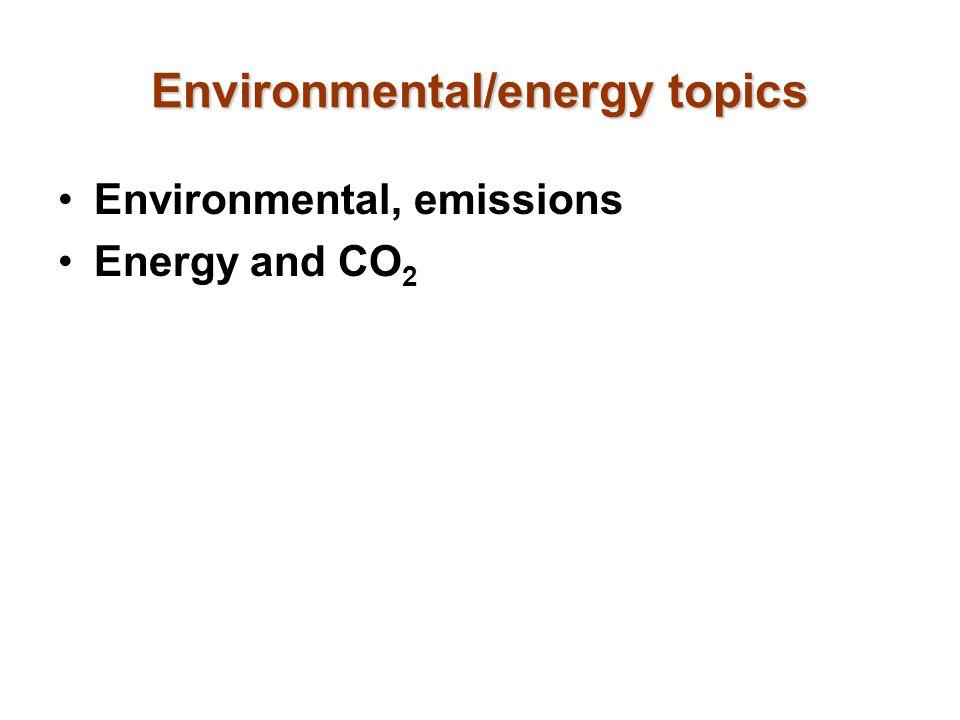 Environmental/energy topics