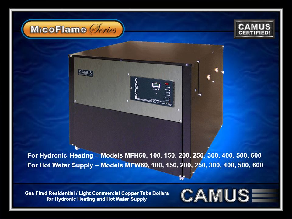 Gas Fired Residential / Light Commercial Copper Tube Boilers for Hydronic Heating and Hot Water Supply