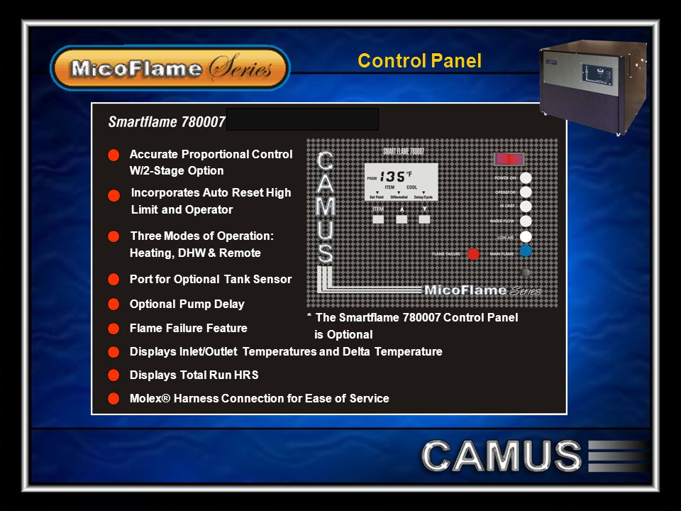 Control Panel Accurate Proportional Control W/2-Stage Option