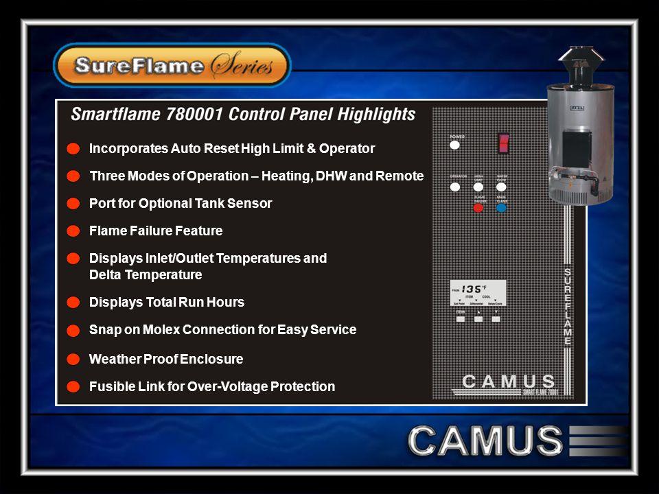 Incorporates Auto Reset High Limit & Operator