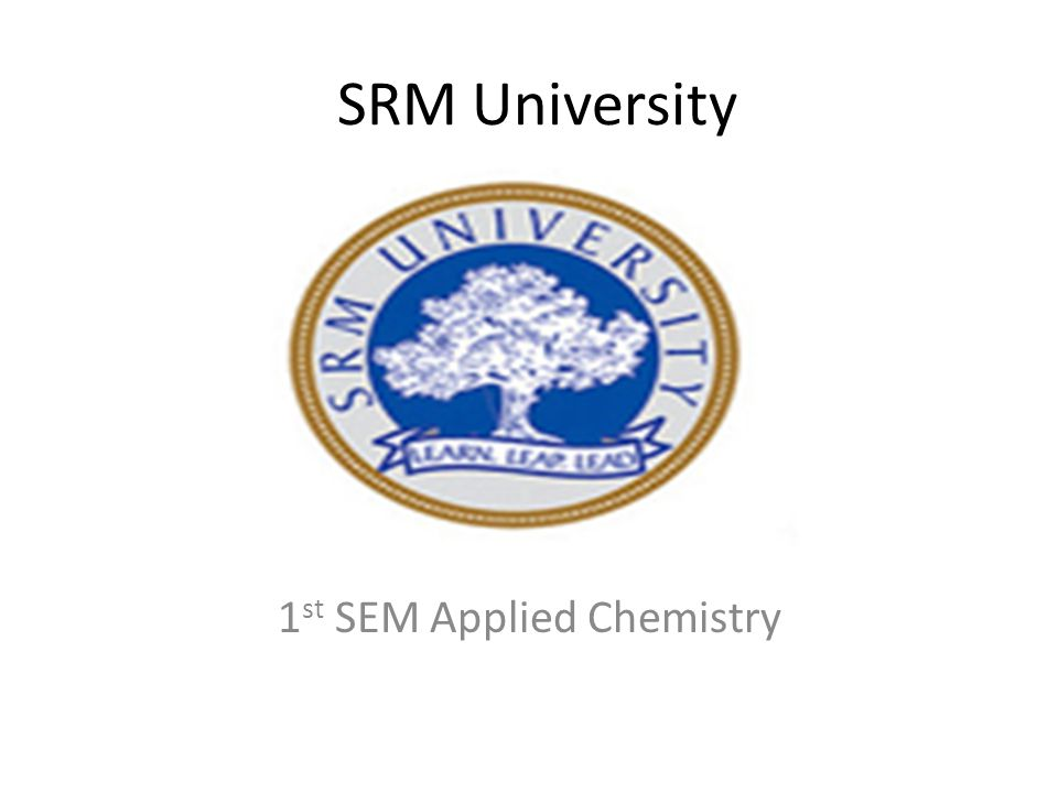 1st SEM Applied Chemistry